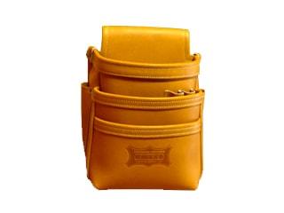 ニックス KGC-301DD 最高級グローブ革使用3段腰袋(キャメル)