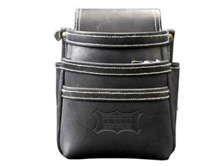 ニックス KGB-301DD 最高級グローブ革使用3段腰袋(ブラック)