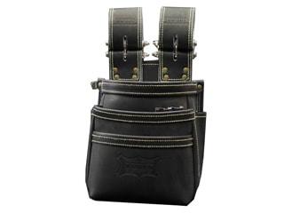 ニックス KGB-301DDX チェーンタイプ高級グローブ革使用3段腰袋(ブラック)